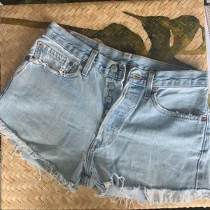 Vintage Levi's 501 high waist denim shorts